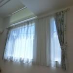 2窓で1カーテンの施工例