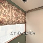 ▲カーテンからローマンシェードにリメイクされたカーテンの施工例