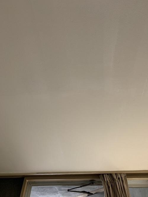 既存の天井に合わせた色に調合し、塗っていきます。